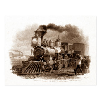 Steam Engine Postcard