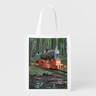 Steam engine reusable grocery bags