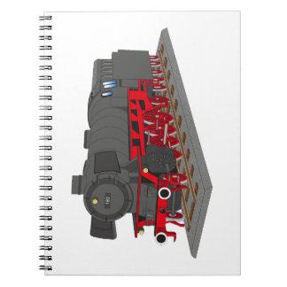 Steam engine spiral notebook