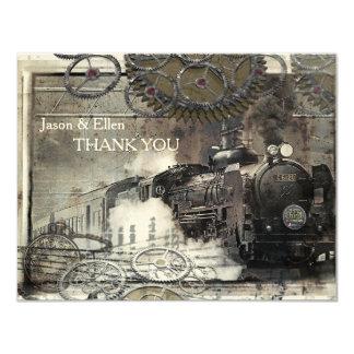 Steam Engine Steampunk Thank You Card