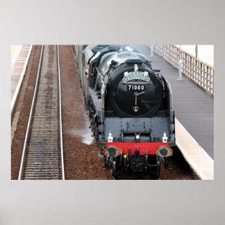 Steam engine The Duke of Gloucester Poster