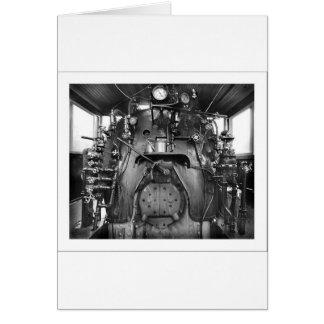 Steam Engine Train Cab Greeting Card
