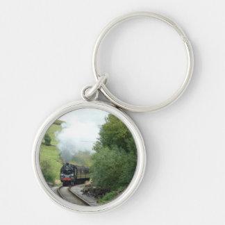 Steam Engine Train Keychain Keyring