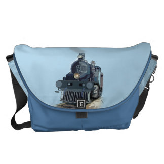 Steam Engine Train Rickshaw Messenger Bag