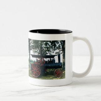 steam engine Two-Tone coffee mug