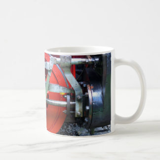 Steam engine wheel coffee mug