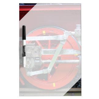 Steam engine wheel dry erase white board