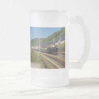 Steam engine with special train in Lorch Frosted Glass Beer Mug