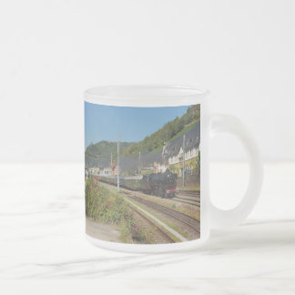 Steam engine with special train in Lorch Frosted Glass Coffee Mug