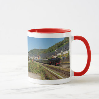 Steam engine with special train in Lorch Mug