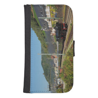Steam engine with special train in Lorch Samsung S4 Wallet Case