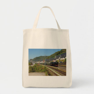 Steam engine with special train in Lorch Tote Bag