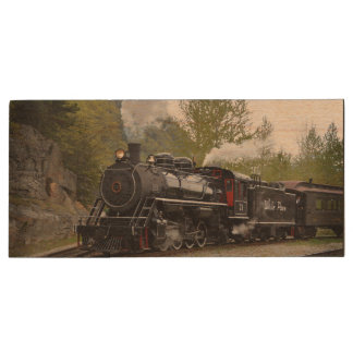 Steam Engine Wood USB Flash Drive