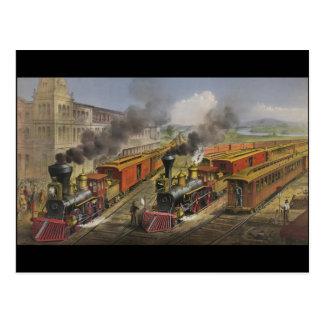 Steam Engines Postcard