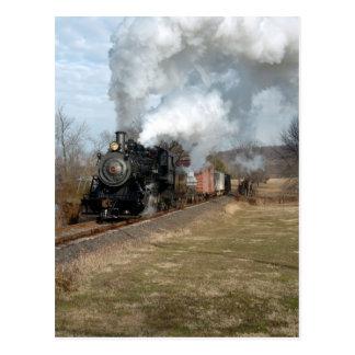 Steam Freight Lahaska Vertical Postcard