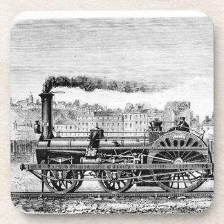 Steam locomotive beverage coaster