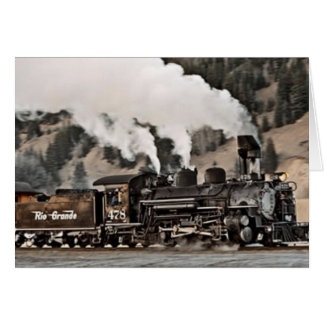 Steam Locomotive Card