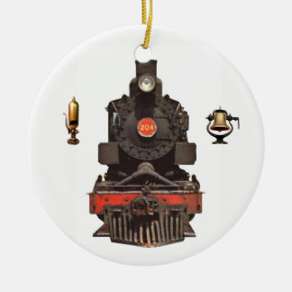 Steam Locomotive Ceramic Ornament