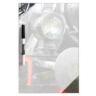 Steam locomotive detail dry erase white board