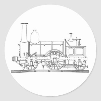 Steam Locomotive Engine Classic Round Sticker