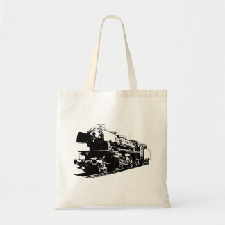 Steam Locomotive - High Contrast Tote Bag