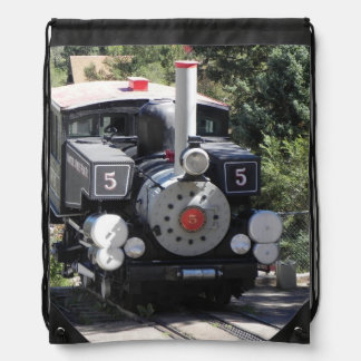Steam Locomotive Pike's Peak Cog Railway Drawstring Bag
