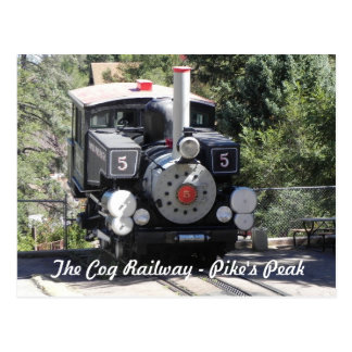 Steam Locomotive Pike's Peak Cog Railway Postcard