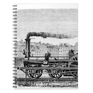 Steam locomotive spiral notebook