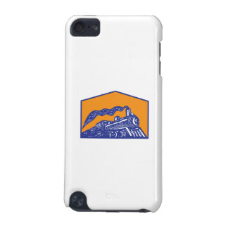 Steam Locomotive Train Coming Crest Retro iPod Touch (5th Generation) Covers