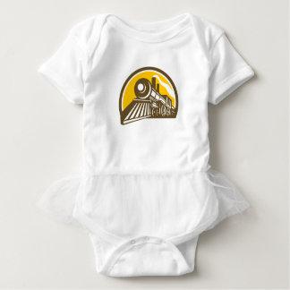 Steam Locomotive Train Icon Baby Bodysuit