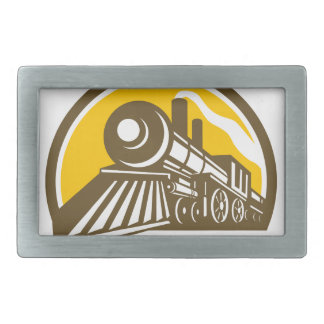 Steam Locomotive Train Icon Belt Buckle