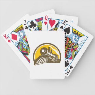 Steam Locomotive Train Icon Bicycle Playing Cards