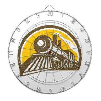 Steam Locomotive Train Icon Dartboard