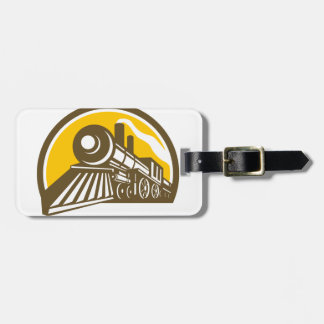 Steam Locomotive Train Icon Luggage Tag
