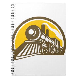 Steam Locomotive Train Icon Notebook