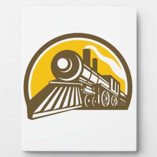 Steam Locomotive Train Icon Plaque
