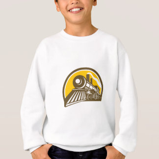 Steam Locomotive Train Icon Sweatshirt