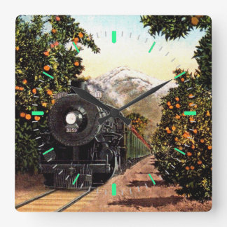 Steam Locomotive Wall Clocks