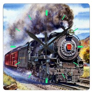 Steam Locomotive Wallclocks