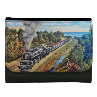 Steam Locomotive Wallet For Women
