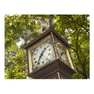 Steam powered clock in the Gastown neighborhood Postcard
