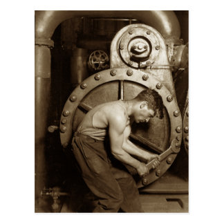 Steam Pump Mechanic Postcard