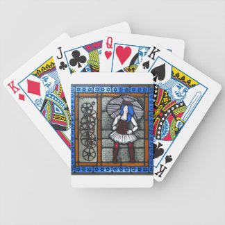 Steam Punk Girl Bicycle Playing Cards