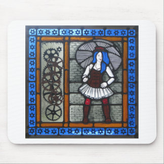 Steam Punk Girl Mouse Pad