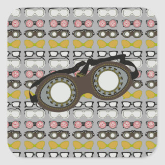 Steam Punk Goggles Square Sticker