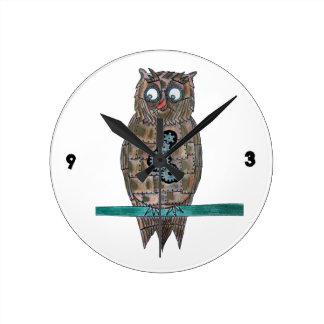 Steam Punk Owl Wall Clocks