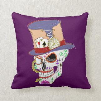 Steam Punk Sugar Skull Throw Pillow