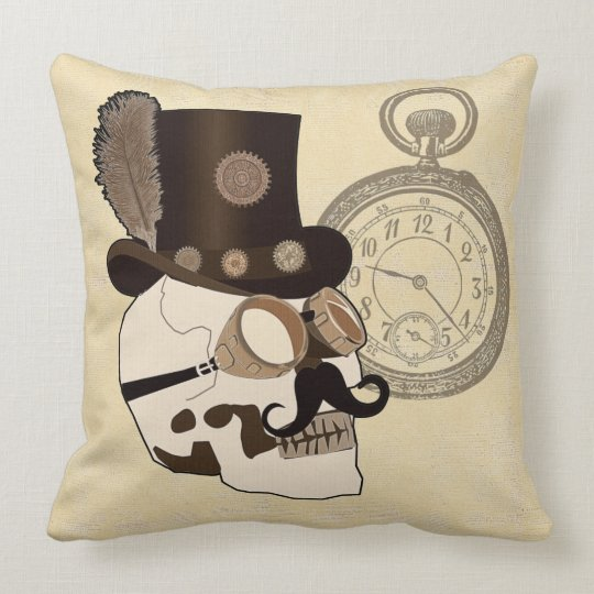 Steam Punked Throw Pillow