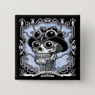 Steam Skullabee 2 Inch Square Button