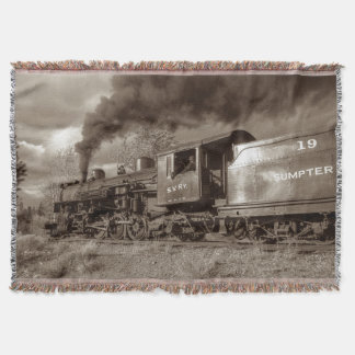 Steam Train 25D Throw Blanket
